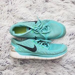 Nike Free 5.0 Teal Womens Shoes
